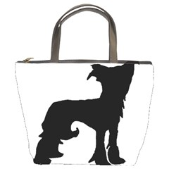 Chinese Crested Silo Black Bucket Bags