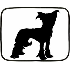 Chinese Crested Silo Black Fleece Blanket (Mini)