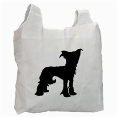 Chinese Crested Silo Black Recycle Bag (One Side)