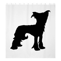 Chinese Crested Silo Black Shower Curtain 66  x 72  (Large)