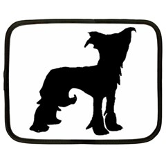 Chinese Crested Silo Black Netbook Case (XL)
