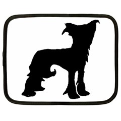 Chinese Crested Silo Black Netbook Case (XXL)