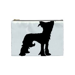 Chinese Crested Silo Black Cosmetic Bag (Medium)