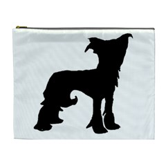 Chinese Crested Silo Black Cosmetic Bag (XL)
