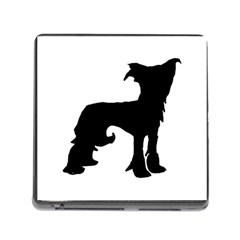 Chinese Crested Silo Black Memory Card Reader (Square)