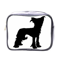 Chinese Crested Silo Black Mini Toiletries Bags