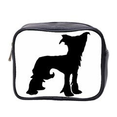 Chinese Crested Silo Black Mini Toiletries Bag 2-Side