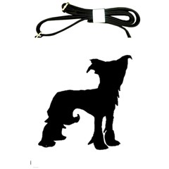 Chinese Crested Silo Black Shoulder Sling Bags