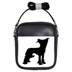 Chinese Crested Silo Black Girls Sling Bags