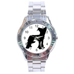 Chinese Crested Silo Black Stainless Steel Analogue Watch