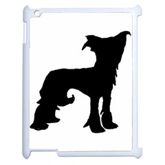 Chinese Crested Silo Black Apple iPad 2 Case (White)