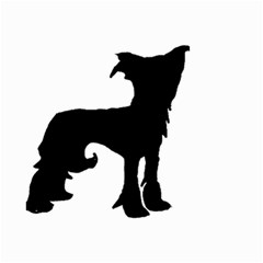 Chinese Crested Silo Black Small Garden Flag (Two Sides)