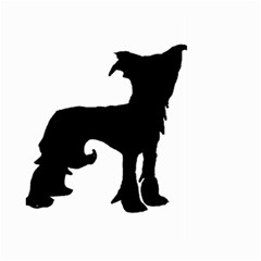 Chinese Crested Silo Black Large Garden Flag (Two Sides)