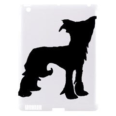 Chinese Crested Silo Black Apple iPad 3/4 Hardshell Case (Compatible with Smart Cover)
