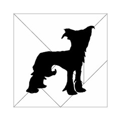 Chinese Crested Silo Black Acrylic Tangram Puzzle (6  x 6 )