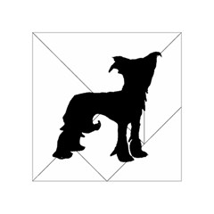 Chinese Crested Silo Black Acrylic Tangram Puzzle (4  x 4 )