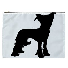 Chinese Crested Silo Black Cosmetic Bag (XXL)
