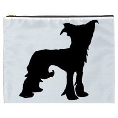 Chinese Crested Silo Black Cosmetic Bag (XXXL)