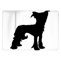 Chinese Crested Silo Black Samsung Galaxy Tab 10.1  P7500 Flip Case