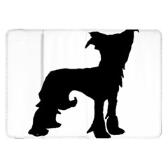 Chinese Crested Silo Black Samsung Galaxy Tab 8.9  P7300 Flip Case