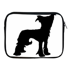 Chinese Crested Silo Black Apple iPad 2/3/4 Zipper Cases