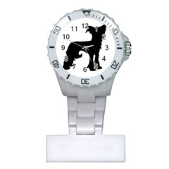 Chinese Crested Silo Black Plastic Nurses Watch