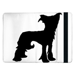 Chinese Crested Silo Black Samsung Galaxy Tab Pro 12.2  Flip Case