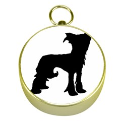 Chinese Crested Silo Black Gold Compasses