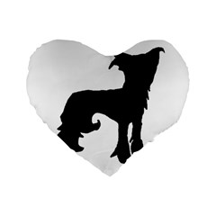 Chinese Crested Silo Black Standard 16  Premium Flano Heart Shape Cushions