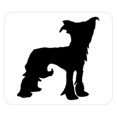 Chinese Crested Silo Black Double Sided Flano Blanket (Small)