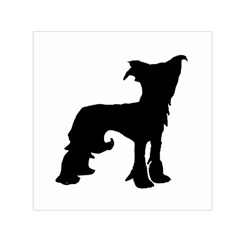 Chinese Crested Silo Black Small Satin Scarf (Square)