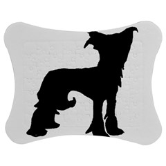 Chinese Crested Silo Black Jigsaw Puzzle Photo Stand (Bow)