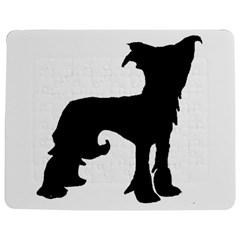 Chinese Crested Silo Black Jigsaw Puzzle Photo Stand (Rectangular)