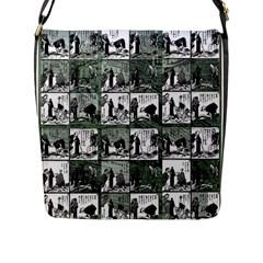 Comic book  Flap Messenger Bag (L)