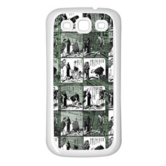 Comic book  Samsung Galaxy S3 Back Case (White)
