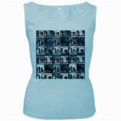 Comic book  Women s Baby Blue Tank Top