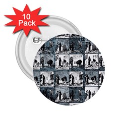 Comic book  2.25  Buttons (10 pack)