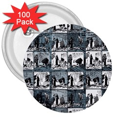 Comic book  3  Buttons (100 pack)