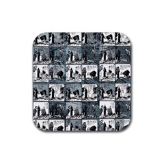 Comic book  Rubber Coaster (Square)