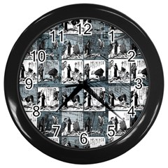 Comic book  Wall Clocks (Black)