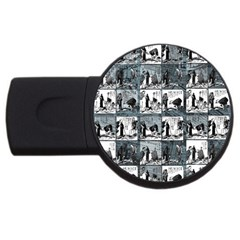 Comic book  USB Flash Drive Round (4 GB)