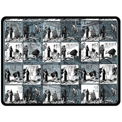 Comic book  Fleece Blanket (Large)