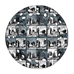 Comic book  Ornament (Round Filigree)