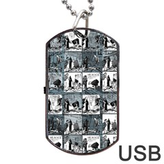 Comic book  Dog Tag USB Flash (Two Sides)