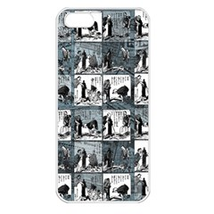 Comic book  Apple iPhone 5 Seamless Case (White)