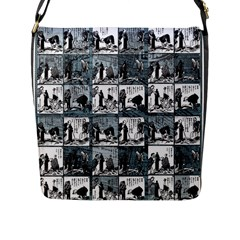 Comic book  Flap Messenger Bag (L)