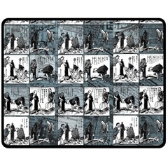 Comic book  Double Sided Fleece Blanket (Medium)