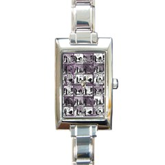 Comic book  Rectangle Italian Charm Watch