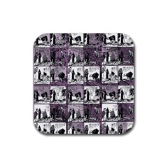 Comic book  Rubber Square Coaster (4 pack)