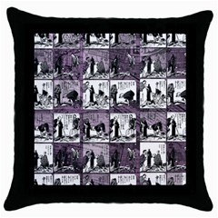 Comic book  Throw Pillow Case (Black)